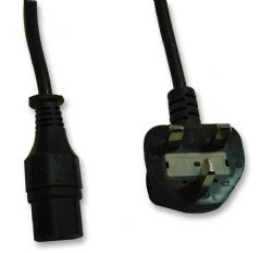 PRO ELEC PE01059  Lead Uk Plug To Iec C13 Socket 5A Blk 2M